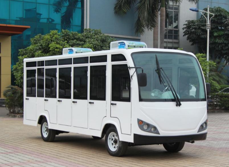 23座带门电动观光车电动游览车带空调-广州朗晴电动车